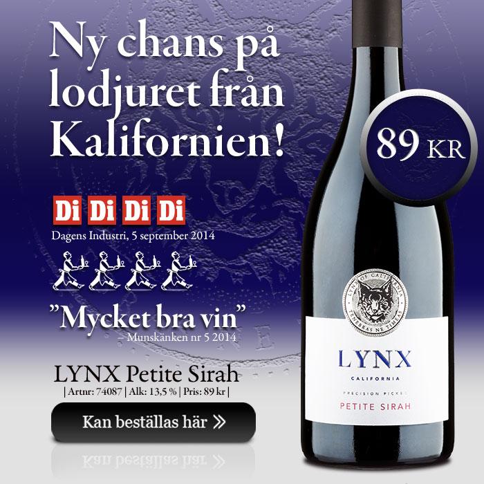 LYNX Petite Sirah - Lodjuret från Kalifornien!