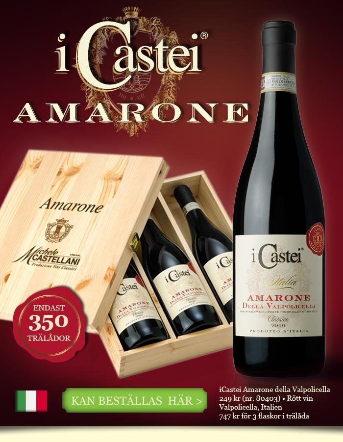 I Castei Amarone kan beställas här