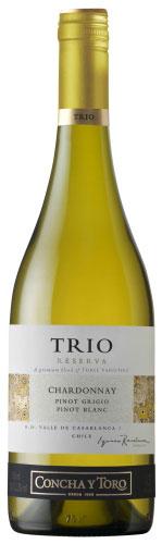 Trio Chardonnay Pinot Blanc Pinot Grigio
