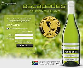 Escapades Sauvignon Blanc