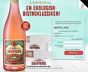Les Dauphins Côtes du Rhône Organic Rosé