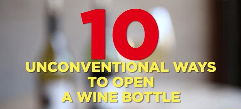 10 alternativa sätt att öppna en vinflaska