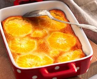 Clafouti med apelsinfyllning