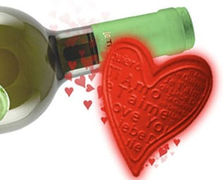 Kärlek, vin och Valentin