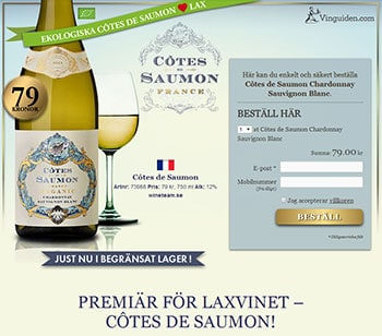 Côtes de Saumon Chardonnay Sauvignon Blanc