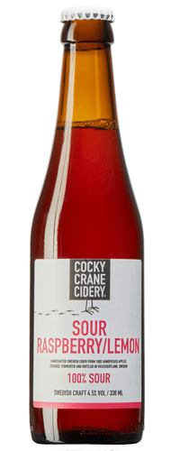 Cocky Crane Cidery Sour Raspberry Lemon Cider