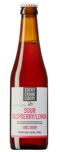 Cocky Crane Cidery Sour Raspberry Lemon Cider