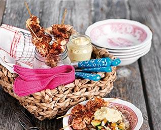 Kycklingspett med hetta