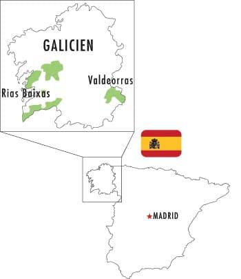 Karta till Veckans Klonk 14 - Albarino vs Godello