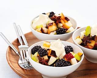 Fruktsallad med vaniljfraiche