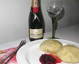 Palt och champagne