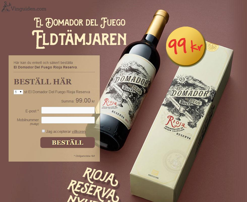 El Domador Del Fuego Rioja Reserva