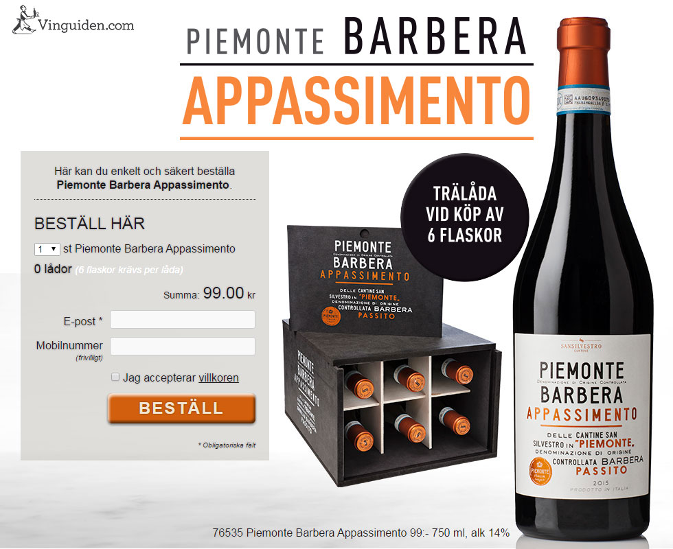 Piemonte Barbera Appassimento