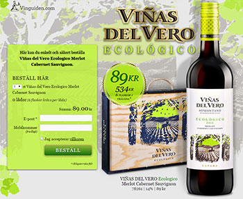 Viñas del Vero Ecologico Merlot Cabernet Sauvignon