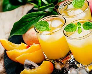 Wine cooler med persika