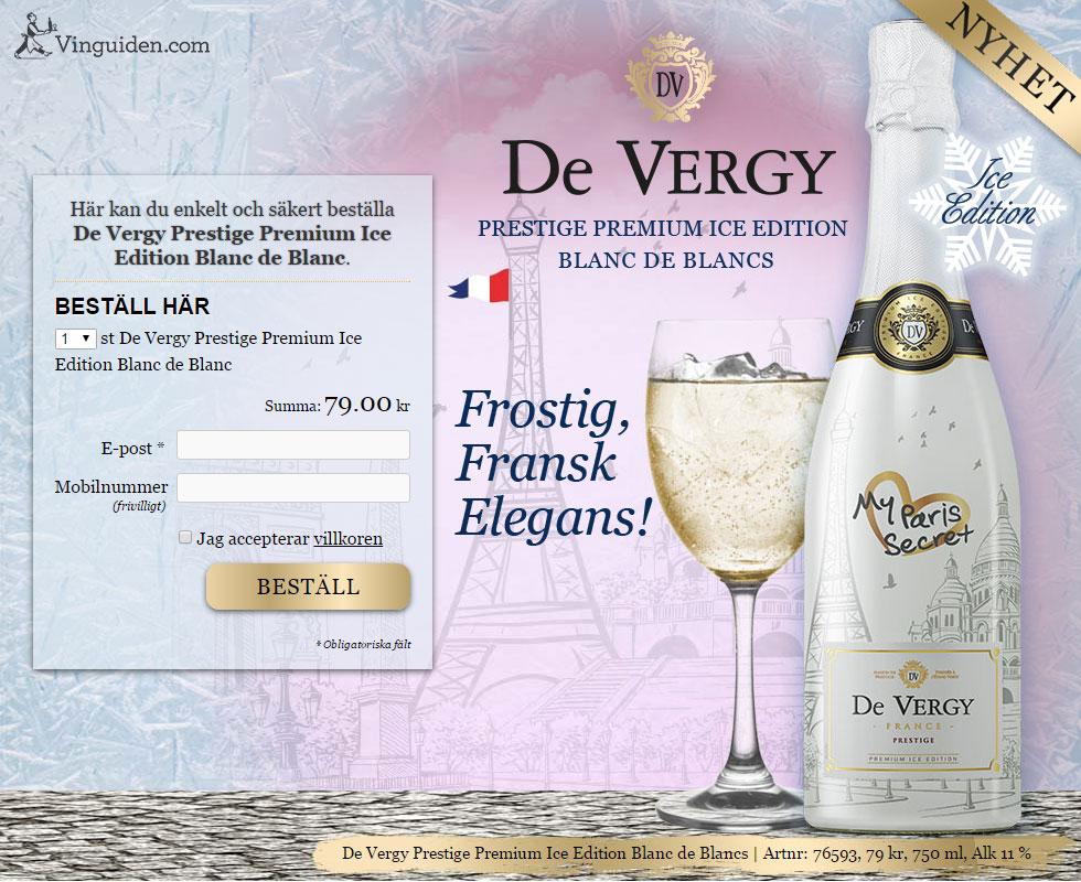 De Vergy Prestige Premium Ice Edition Blanc de Blanc