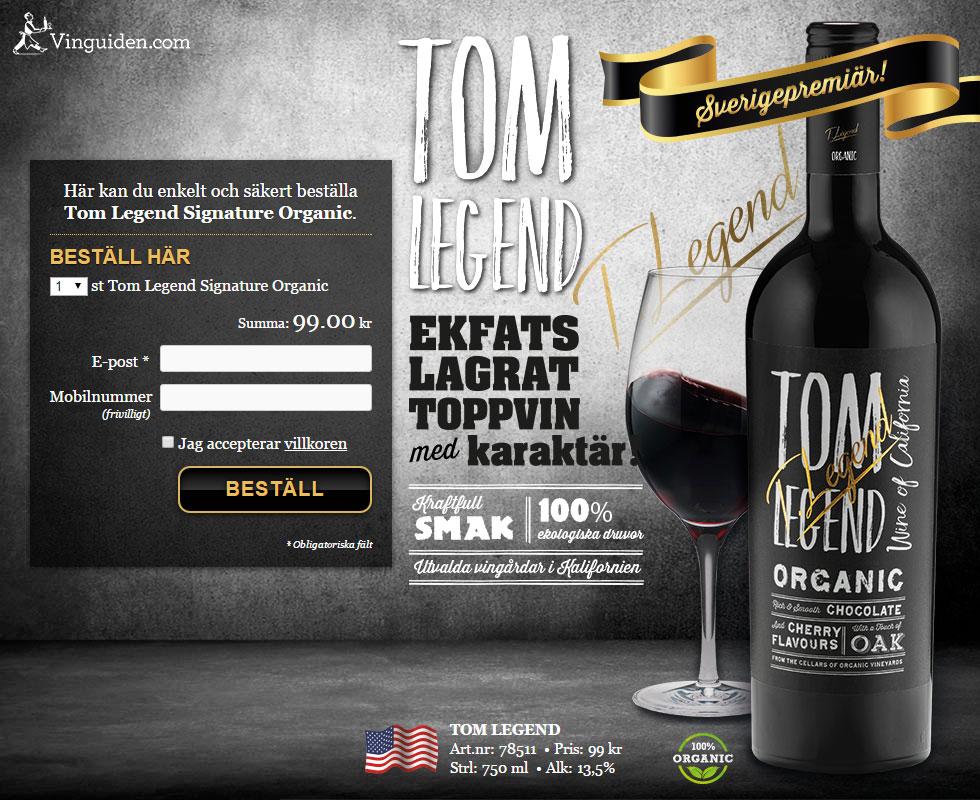 Tom Legend Signature Organic