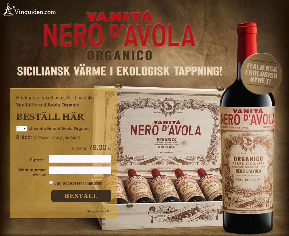 Vanitá Nero d'Avola Organic