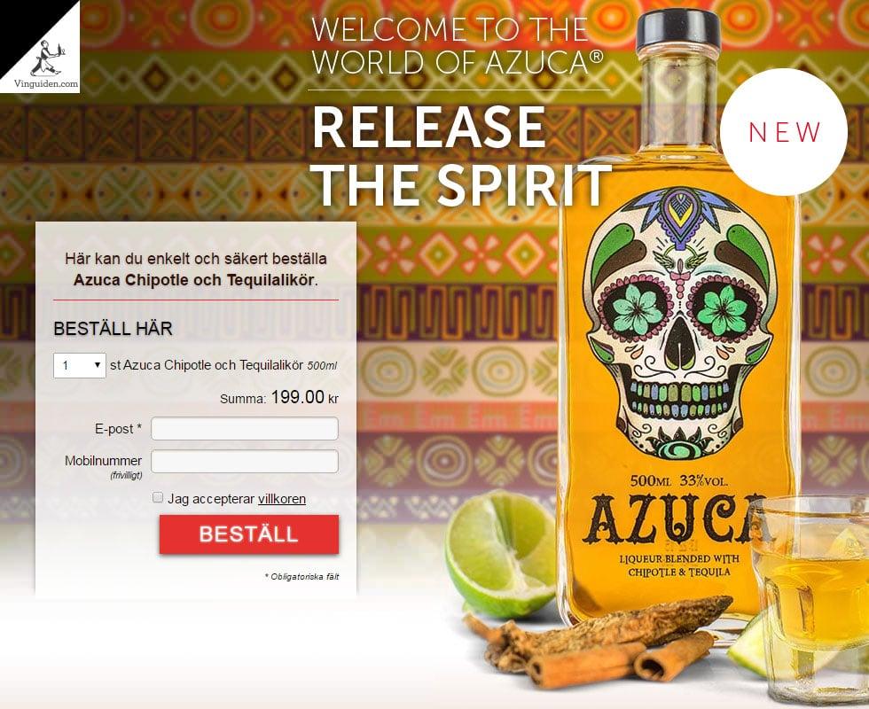 Azuca Chipotle och Tequilalikör