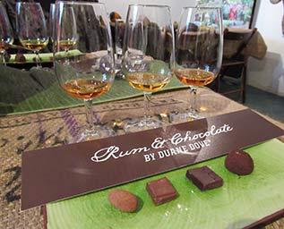 Karibisk choklad och rom