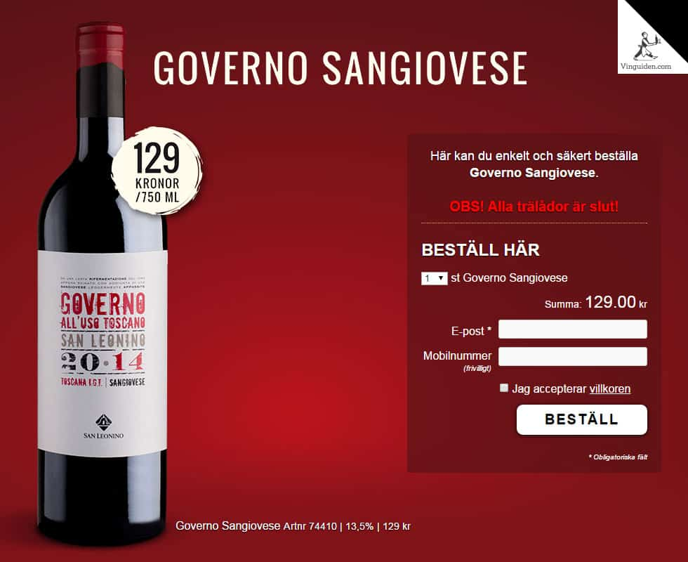 Governo Sangiovese