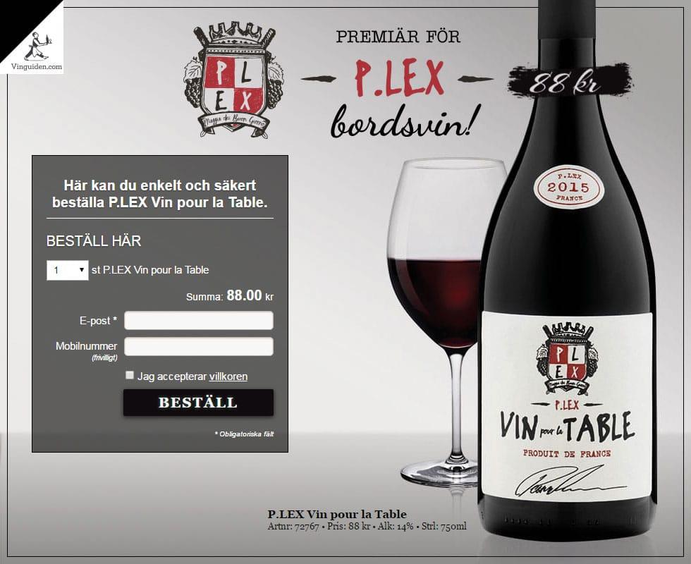 P.LEX Vin pour la Table