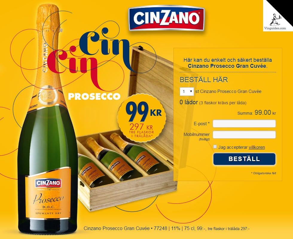Cinzano Prosecco Gran Cuvée