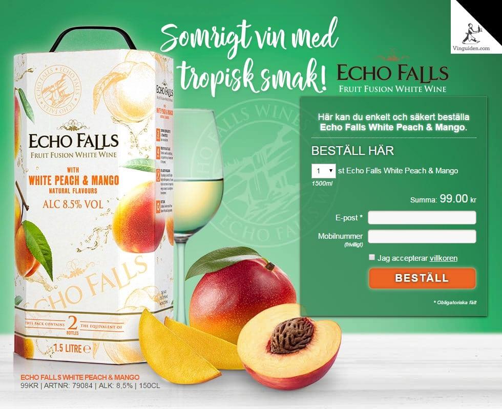 Echo Falls White Peach & Mango