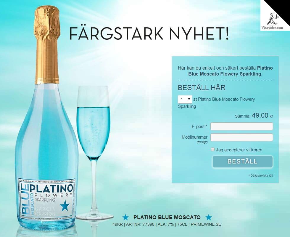 Platino Blue Moscato Flowery Sparkling