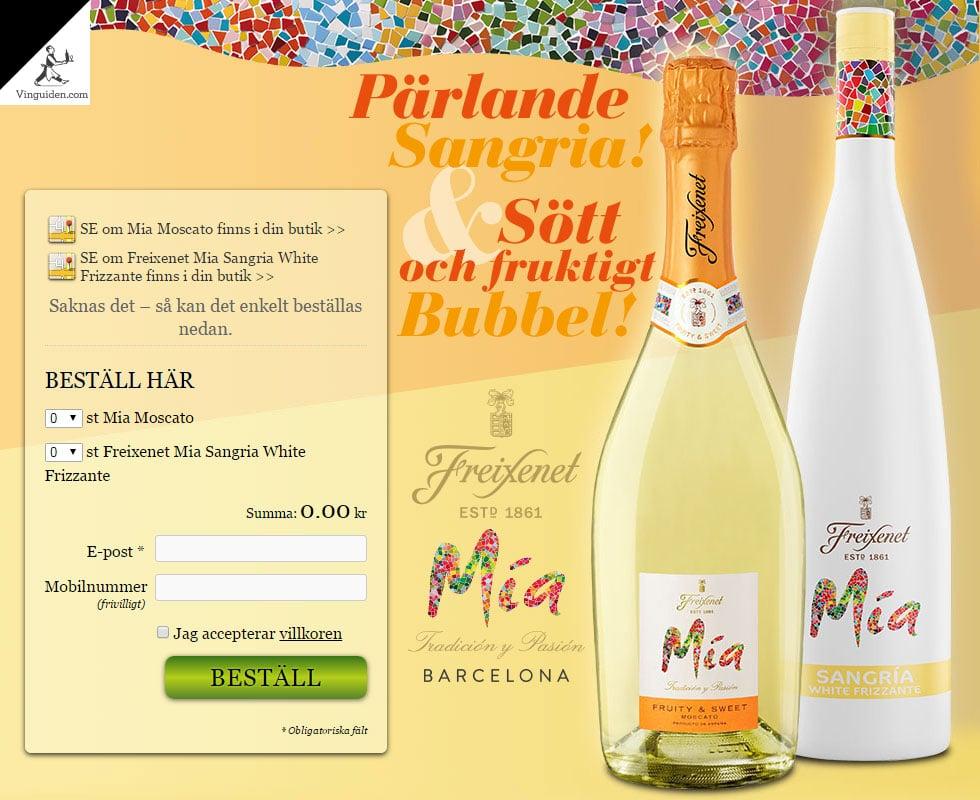 Mia Moscato & Freixenet Mia Sangria White Frizzante