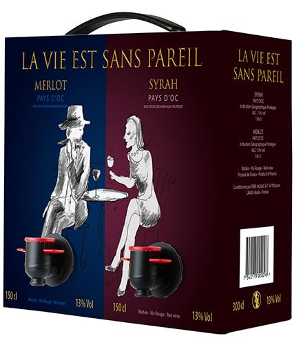 Duobox Rouge Rouge La Vie Est Sans Pareil Merlot Syrah