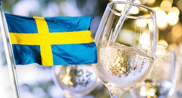 Fira nationaldagen med ett glas helsvenskt vin