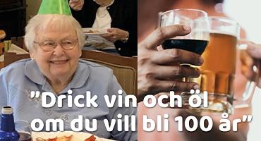 """""""Vin, öl och pizza – då blir man 100.."""
