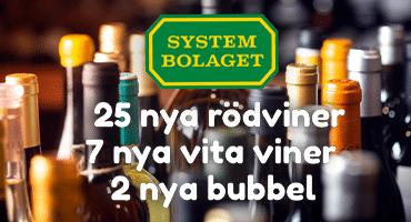 Idag släpps 60 nya drycker på Systembolaget