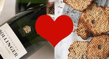 Champagne och knäckebröd perfekt kombination
